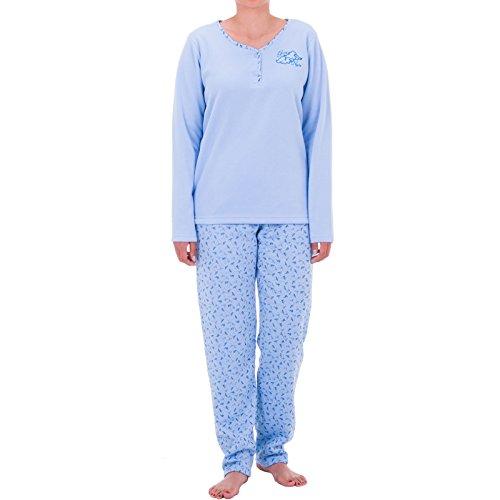 lucky-brand-pigiama-due-pezzi-floreale-maniche-lunghe-donna-blu-xx-large