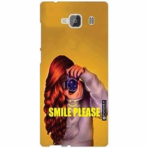 Xiaomi Redmi 2 Prime Back Cover - Silicon Smile Please Designer Cases