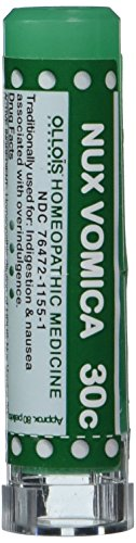 Ollois Lactose Free  Homeopathic Medicines, Nux Vomica 30C Pellets, 80 Count