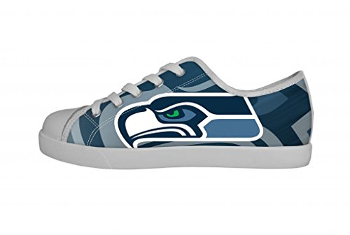 Nfl Seattle Seahawks Team Logo Boys Canvas Shoes Lace-Up Fashion Sneakers(Little Kid/Big Kid)-4M Us front-871851
