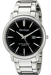 Armitron Men's 20/5032BKSV Date Function Dial Silver-Tone Bracelet Watch