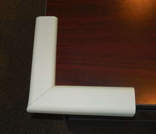 Kids Edge Fire Resistant Safety Pad Corner, Ivory 8X8 In. front-839181