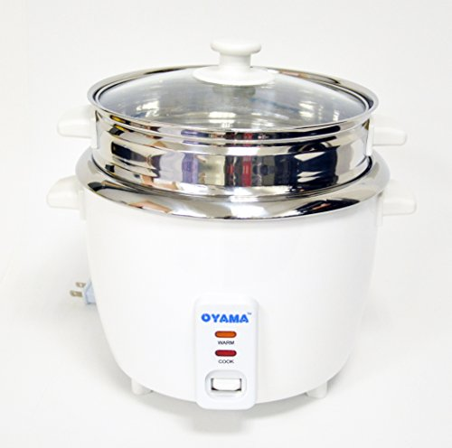 OYAMA Stainless 16-Cup Rice Cooker Stainless Steel Inner Pot