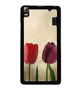 Colourful Tulips 2D Hard Polycarbonate Designer Back Case Cover for Lenovo A7000 :: Lenovo A7000 Plus :: Lenovo K3 Note
