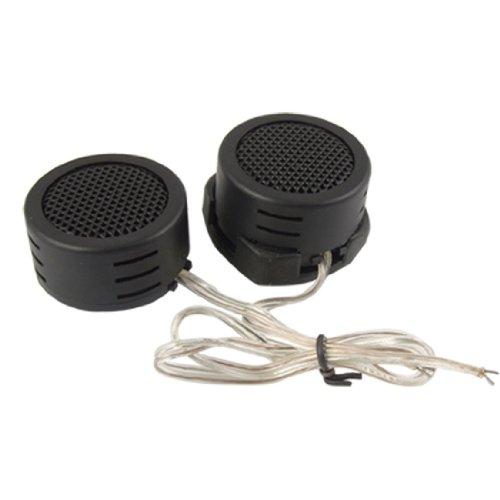 2 Pcs Black Plastic Dome Car Auto Tweeter Speakers