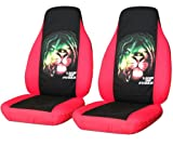 "2 Red and Black ""Lion of Judah"" seat covers for a 2011 Chevy Cruze. Side airbag friendly."