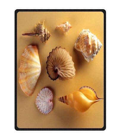 Seashell Throw Blanket front-1030374