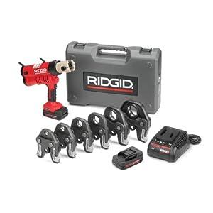 Ridgid 43358 Battery Press Tool Kit with ProPress Jaws, 1