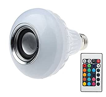 Buy smart led change to any colour bulb with bluetooth for Led light bulb with built in bluetooth speaker