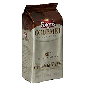 Folgers Gourmet Selections Coffee, Chocolate Truffle Ground Coffee, 12-Ounce Bags (Pack of 3)