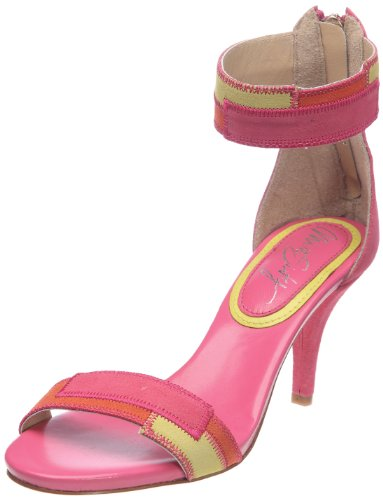Miss Sixty Women's Sally Pink/Yellow Ankle Strap