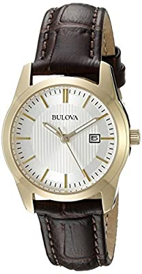 Bulova Women's 97M114 Analog Display Quartz Brown Watch