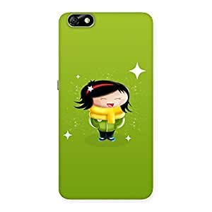 Delighted Laughing Cute Girl Print Back Case Cover for Honor 4X