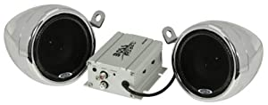 Boss Audio MC400 Motorcycle/UTV Speaker and Amplifier System (Silver) from Boss Audio Systems, Inc.