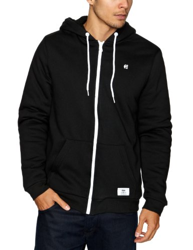 Etnies Classic Sherpa Zip Fleece Men's Sweatshirt Black Medium