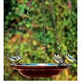 Hanging Ceramic Bird Bath / Water Dish With Chains