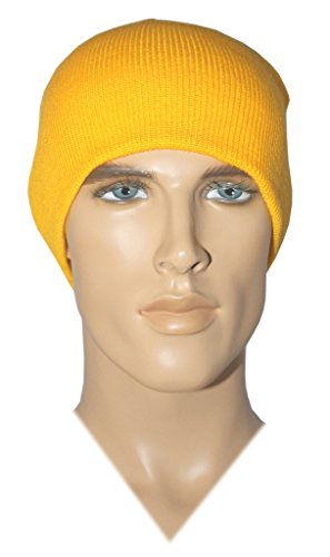 Costume Adventure Acrylic Knit Gold Beanie Costume Hat