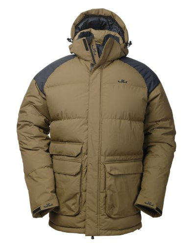 Jeff Green Herren Daunenparka Cardiff, Dark Olive, 54, 1003-DO