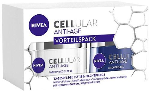 Nivea Visage Cellular Anti-Falten Multipack, Tag und Nachtpflege Set (2 x 50 ml)