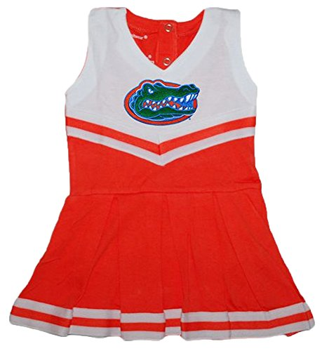 Florida Gators NCAA Newborn Baby Cheerleader Bodysuit Dress