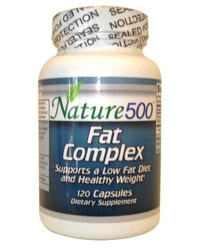 Nature500 Fat Complex With Chitosan & Psyllium Husks Promotes Weight Loss 120 Capsules