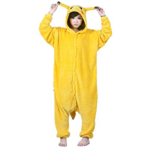 Autek-Animales-Unisex-Body-Disfraz-Jersey-pijamas-ropa-de-noche-Pikachu