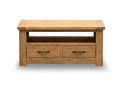 Boden Coffee Table Solid Pine With 2 Drawers