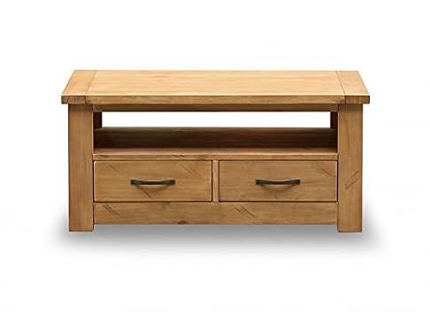Boden tavolino in legno di pino massello con 2cassetti
