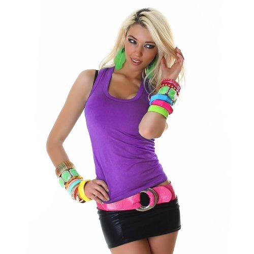 Jela London Damen Tanktop Top Shirt Einheitsgröße 32,34,36,38 verschiedene Farben
