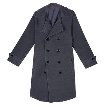 ea02e9e22284b Zeagoo Men s Winter Double Breasted Long Jacket