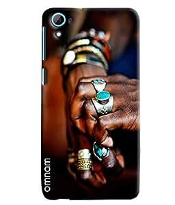 Omnam Hand Full Of Rings Printed Designer Back Cover Case For HTC Desire 826