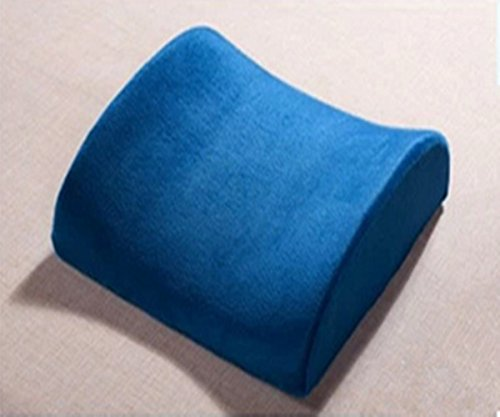 Memory Foam Wedge Car Seat Chair Lumbar Support Cushion Back Pain Height Booster (Rroyalblue) front-204482