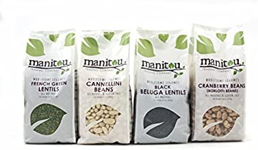 Gourmet Bean and Lentil Collection by Manitou Trading Company featuring French Green Lentils Black B