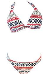 SunnyDate @2pcs Sexy Ladies Women Push up Padded Bikini Trikini Swimwear Swimsuit