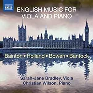 English Music For Viola/ Piano (Naxos: 8.572761) (Sarah-Jane Bradley/ Christian Wilson)