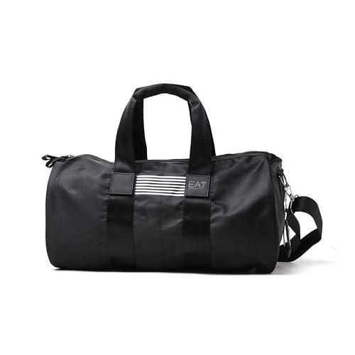 (エンポリオアルマーニ) EA7 EMPORIO ARMANI スポーツバッグ ブラック×シルバー [並行輸入品]