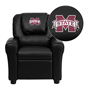 Flash Furniture Mississippi State University Bulldogs Embroidered Black Vinyl Kids... by Flash Furniture