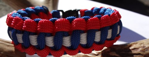 New York Giants Nfl Colored Paracord Survival Bracelet Choose Your Size By Bostonred2010 (8) at Amazon.com