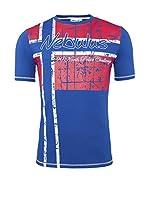 Nebulus Camiseta Manga Corta Flagline (Cobalto)