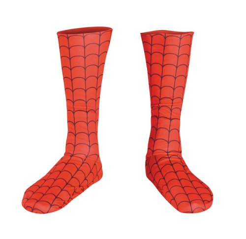 Kids Spiderman Costume Boot Covers - Child Std.