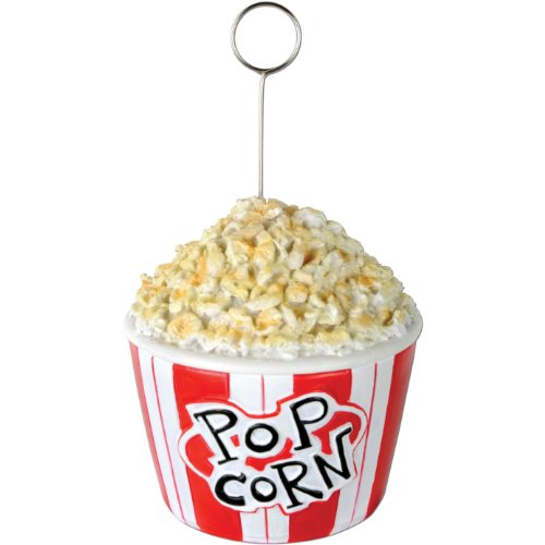 Popcorn Photo/Balloon Holder Party Accessory (1 count)