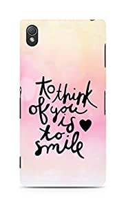 AMEZ to think of you is to smile Back Cover For Sony Xperia Z3