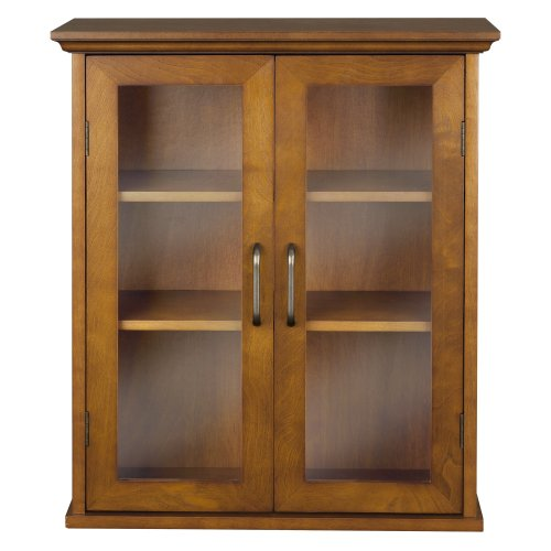 Elegant Home Fashion Anna Wall Cabinet with 2-Door (Wall Mounted Glass Cabinet compare prices)