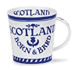 Lovely Born And Bred Scotland Dunoon Fine Bone China Mug Cairngorm Shape