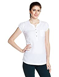 Mineral Women's Body Blouse Shirt (PU16A-618 WT_White_X-Large)