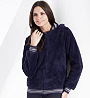 Zip Through Hooded Fleece Jacket