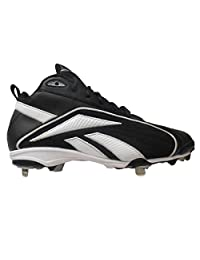 pictures of Reebok Vero FL Mid II Men's Baseball Cleats (7, Black/White)