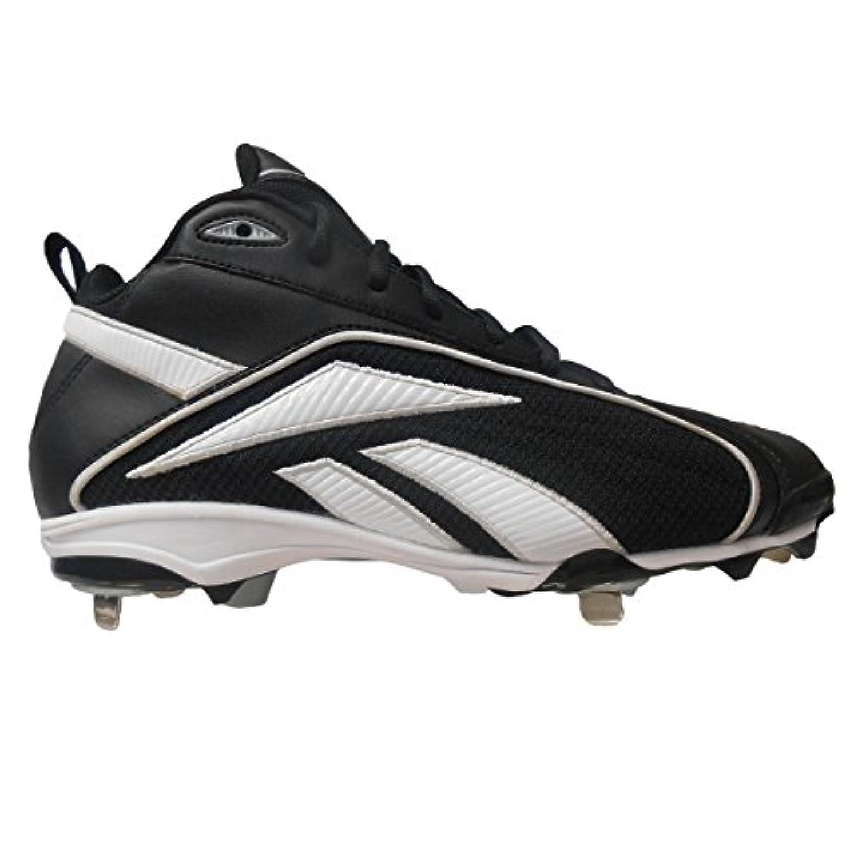 Reebok Vero FL Mid II Men's Baseball Cleats (7, Black/White)