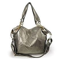 Large Slouchy Hobo Handbag (Gray)