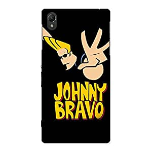 Enticing Brave Black Back Case Cover for Sony Xperia Z1